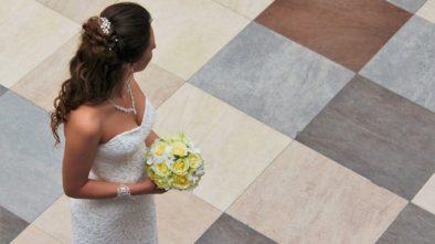 Šaty celebrit ve svatební den